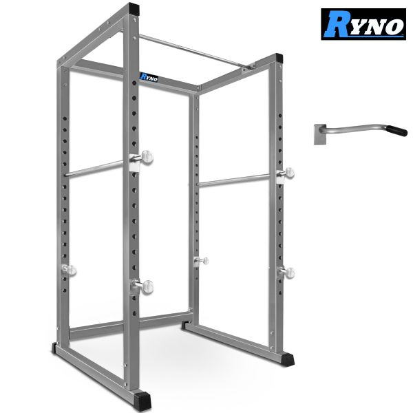 Ryno™ Extreme Heavy Duty Power Rack - Silver / Black.